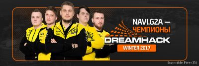 Natus Vincere G2A — чемпионы DreamHack Winter 2017!